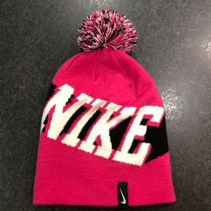Pink NIKE Beanie One Size Fits All